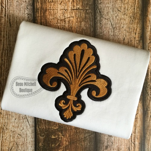 Decorative Fleur de lis applique