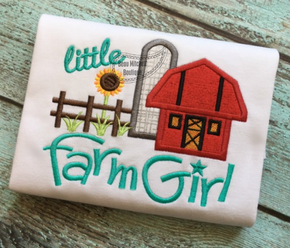 Little Farm Girl applique