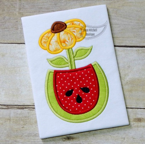 Watermelon flower applique