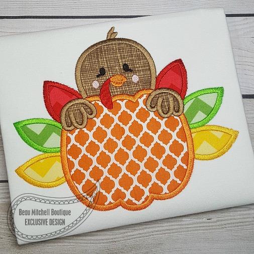 Pumpkin Turkey applique