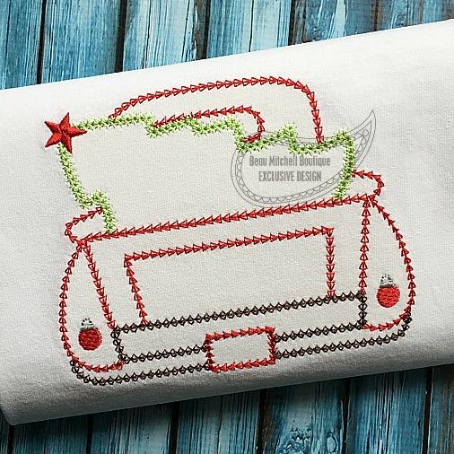 Christmas Truck Bean