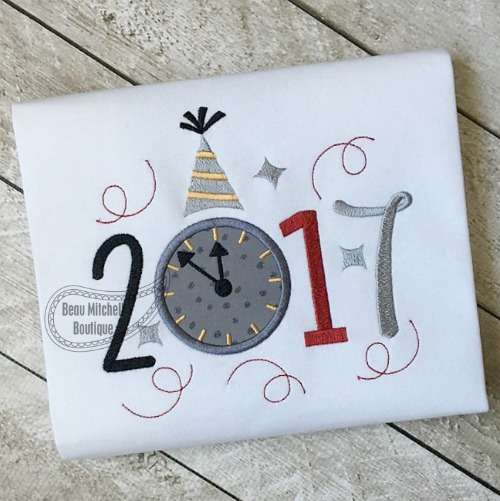 2017 Clock applique