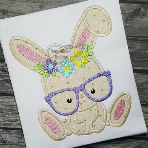 Bunny flower glasses
