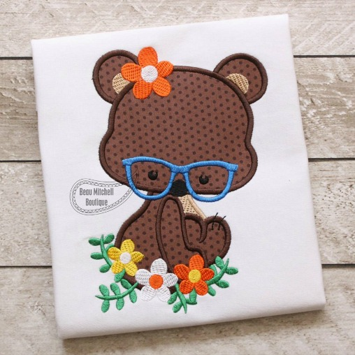 Bear Flower Glasses