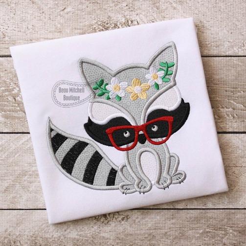 Raccoon Flower Glasses