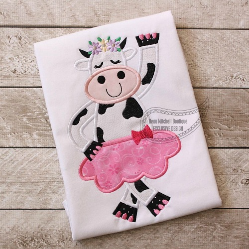 Dancing Cow applique