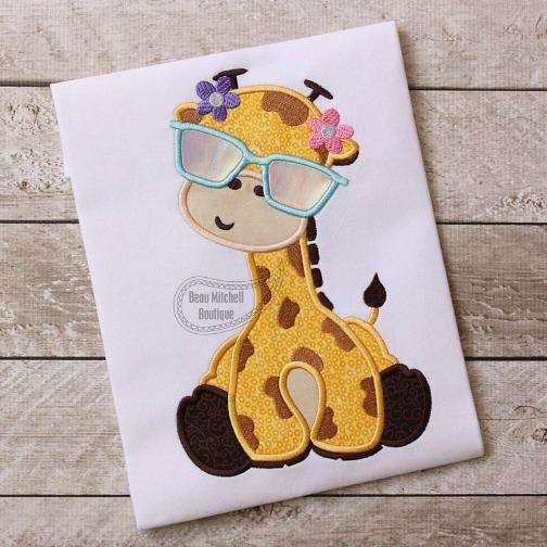 Giraffe Flower Sun Glasses