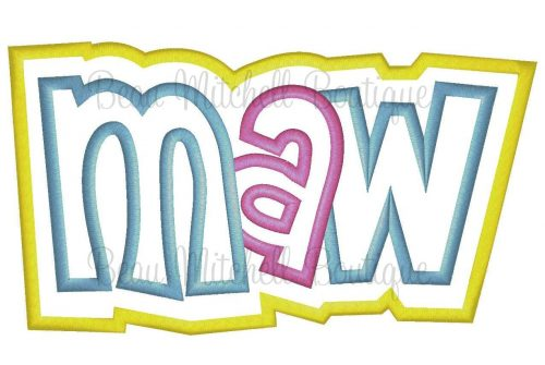 Maw double applique embroidery design