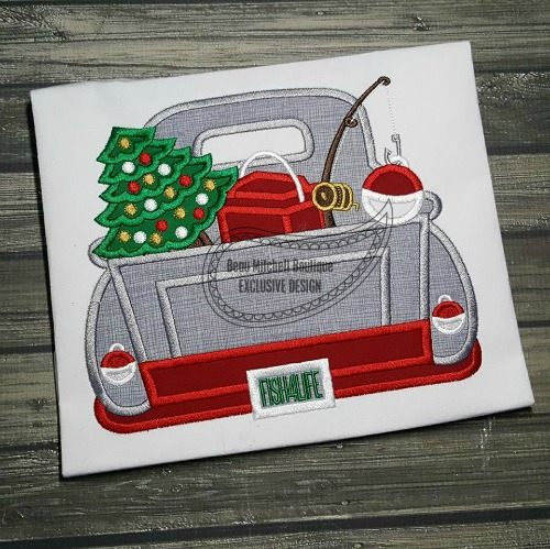 Fishing Christmas truck