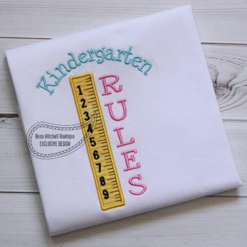Kindergarten RULES!
