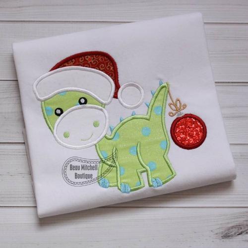 Christmas Dino applique