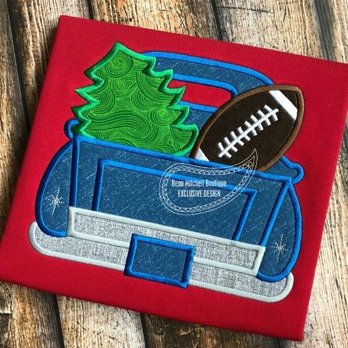 Christmas Football Truck