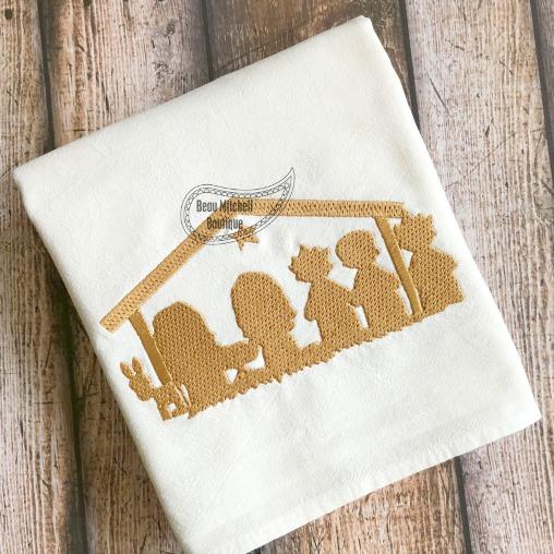 Manger embroidery design