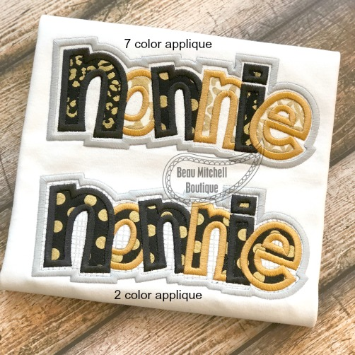 Nonnie double applique