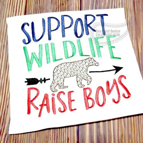 Support wildlife, Raise boys