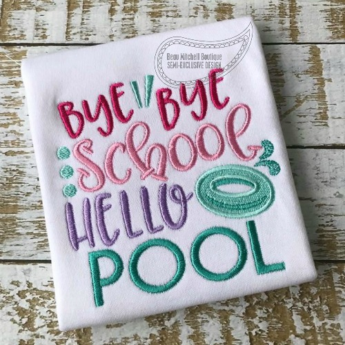 Bye Bye school hello Pool!