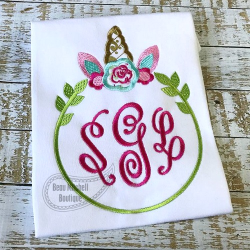 Unicorn monogram