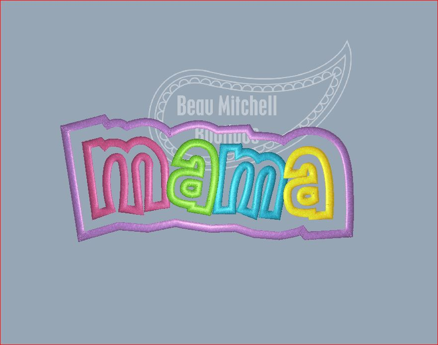 Mama double applique