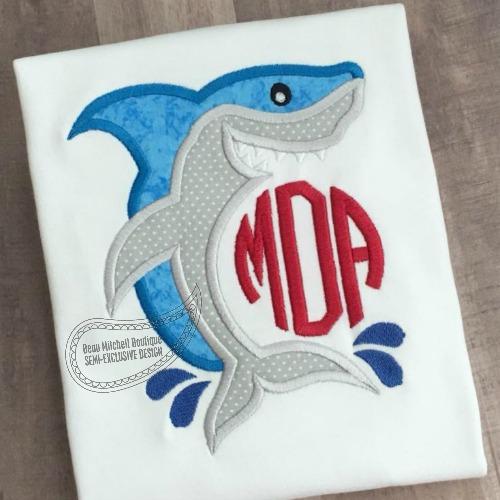Shark monogram