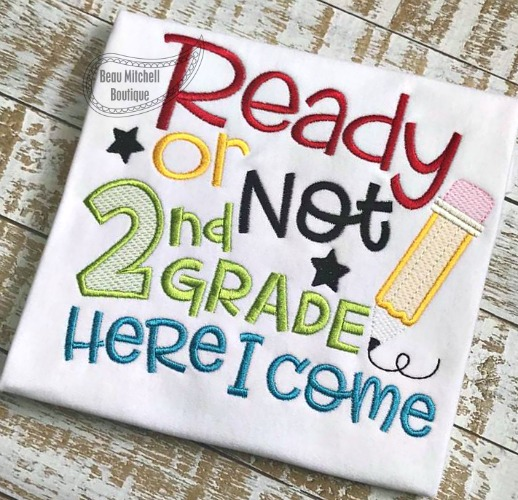 Ready or not 2nd grade here I come!