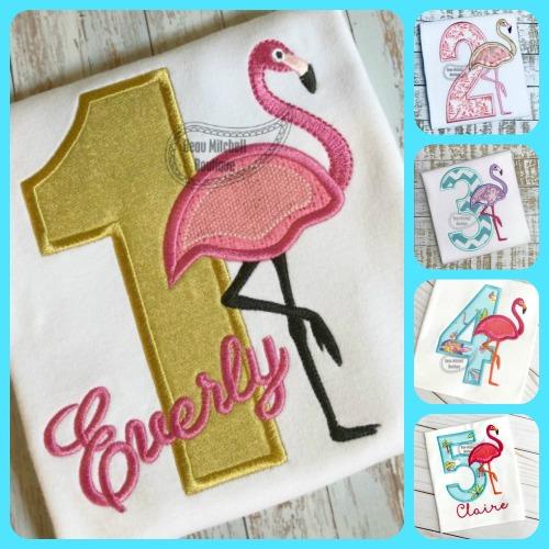 1-5 Flamingo number set