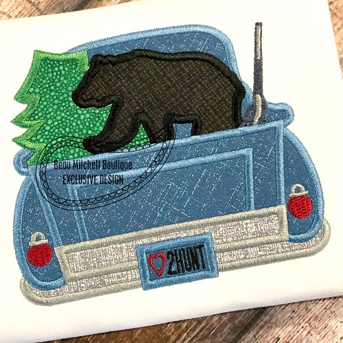 Christmas Bear Hunting Truck