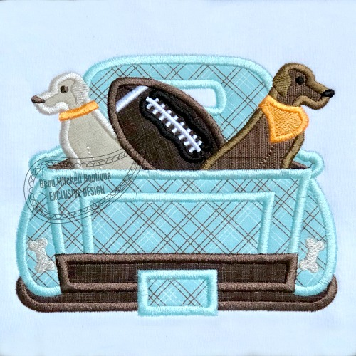 Football 2 dogs Truck
