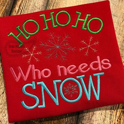 Ho Ho Ho who needs snow?
